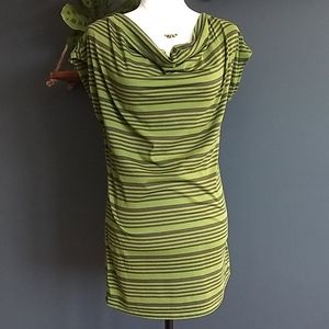 Thyme Maternity Green Striped Shirt * Size…